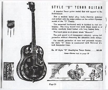 National style O tenor guitar