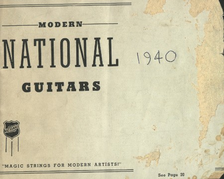 National 1940 catalogue cover