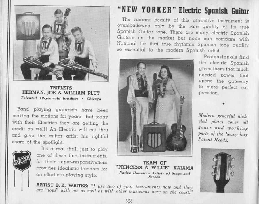 National 1940 catalogue New Yorker Lap steel