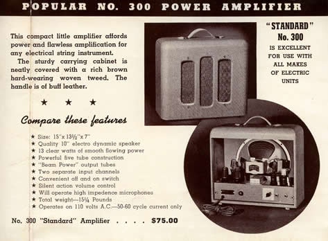 1941 catalogue No 300 'Standard' amp page