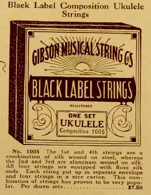 Gibson Brand Steel Ukulele Strings with loop ends