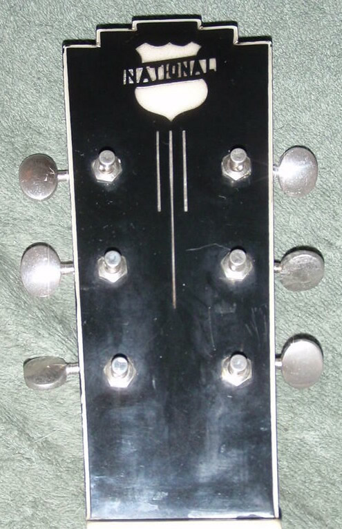 National New Yorker lap steel, V2 headstock