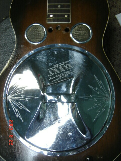Dobro all-electric guitar coverplate