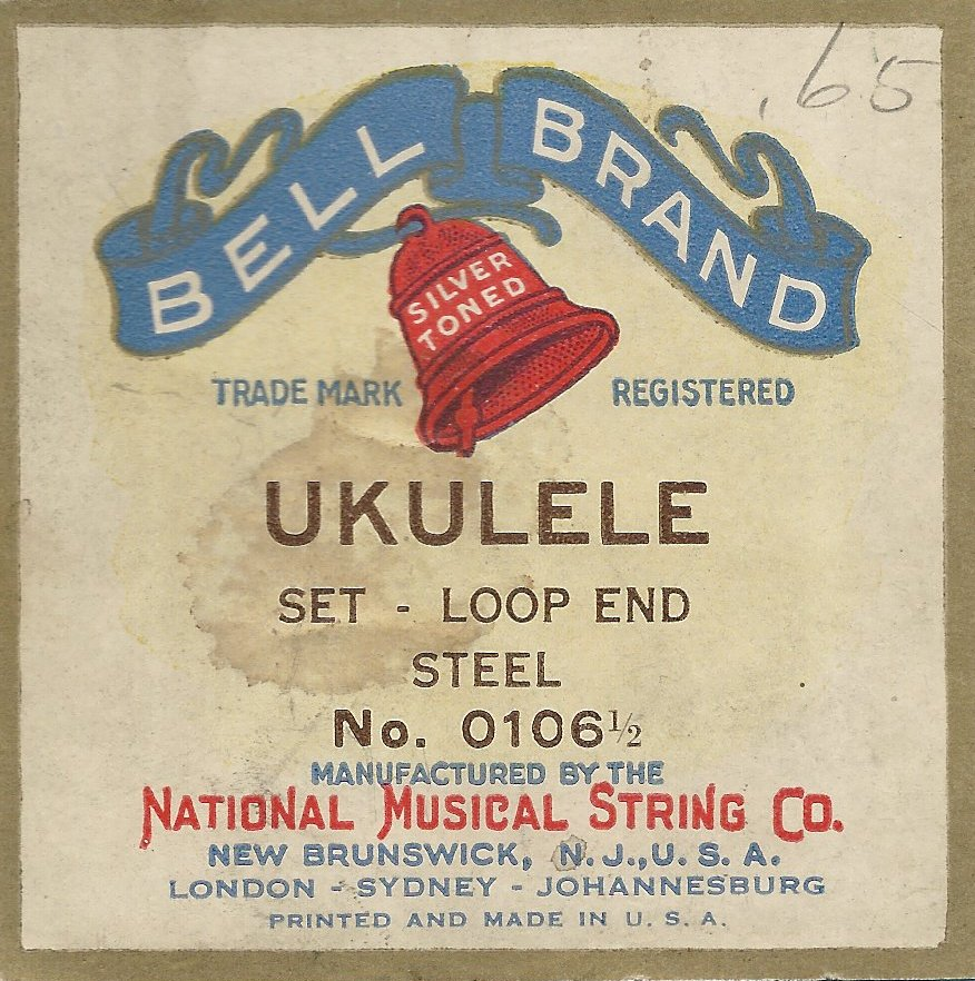 Bell Brand Steel Ukulele Strings with loop ends
