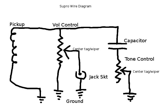 Enjoyable 40S 50S Supro Lapsteel Vol Tone Schematic Michael Messer Forum Wiring 101 Capemaxxcnl