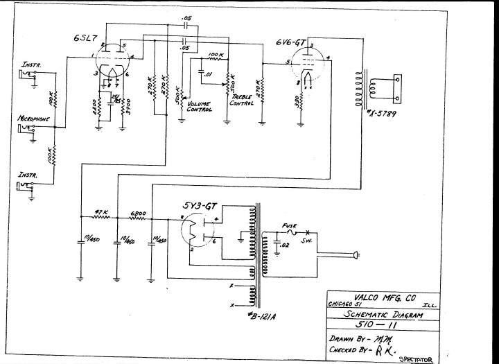 National/Supro/Valco schematic
